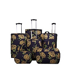 Tripp - Express Bloom luggage range  Navy/Yellow