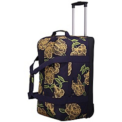 Tripp - Express Bloom Large Wheel Duffle Navy/Yellow