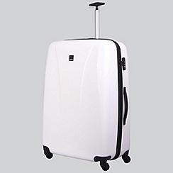 Tripp - White gloss 'Chic' 4 wheel large suitcase