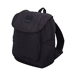 Tripp - Black 'Holiday Bags' flapover backpack