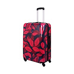 Tripp - Leaf Hard 4-Wheel Large Suitcase Midnight/Cassis