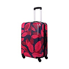Tripp - Leaf Hard 4-Wheel Medium Suitcase Midnight/Cassis