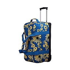 Tripp - Daisy Large Wheel Duffle Turquoise/Yellow