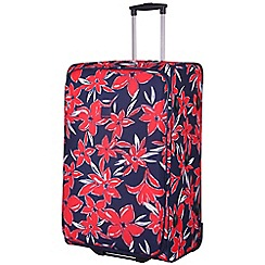 Tripp - Flower Belle Large 2W Suitcase Navy/Red