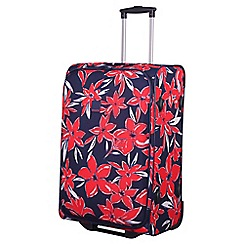 Tripp - Flower Belle Medium 2W Suitcase Navy/Red