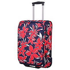 Tripp - Flower Belle Cabin 2W Suitcase Navy/Red