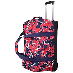Tripp - Flower Belle Large Wheel Duffle Navy/Red