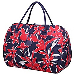 Tripp - Flower Belle Large Holdall Navy/Red