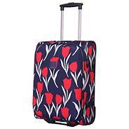 Tulip Cabin 2-Wheel Suitcase Navy/Red