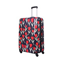 Tripp - Tulip Hard 4-Wheel Large Suitcase Navy /Red