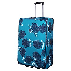 Tripp - Navy 'Bloom' 2-Wheel Large suitcase