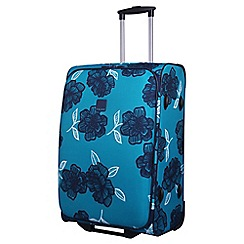 Tripp - Navy 'Bloom' 2-Wheel Medium Suitcase