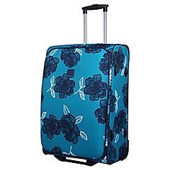 Tripp - Navy 'Bloom' 2-Wheel Medium Suitcase