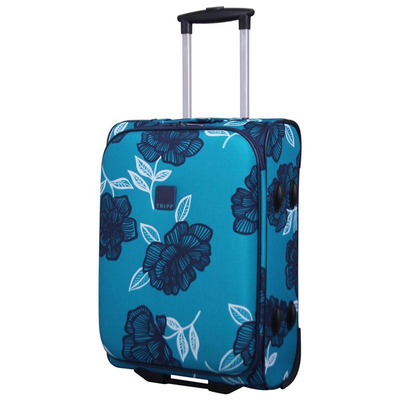 Tripp Navy bloom 2-Wheel Cabin Suitcase, Turquoise/Blue