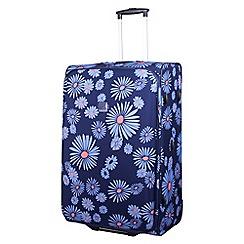 Tripp - Navy/cornflower 'Express Daisy' 2 wheel large suitcase