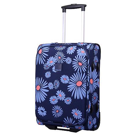 tripp 39 daisy 39 navy 2 wheel cabin suitcase debenhams. Black Bedroom Furniture Sets. Home Design Ideas