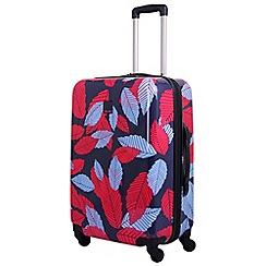 Tripp - Blue 'Leaf Hard ' medium 4 wheel suitcase