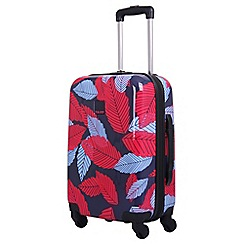 Tripp - Blue 'Leaf Hard' cabin 4 wheel suitcase