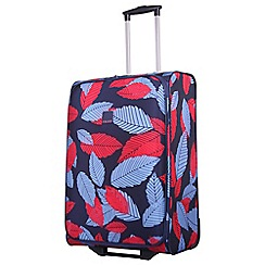 Tripp - Denim blue poppy 'Leaf' medium 2 wheel suitcase