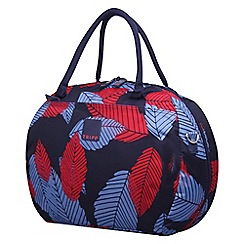 Tripp - Denim blue poppy 'Leaf ' holdall
