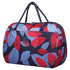 Tripp - Denim blue poppy 'Leaf ' large holdall