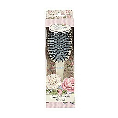 The Vintage Cosmetic Company - 'Soft Cream Oval Paddle' hair brush