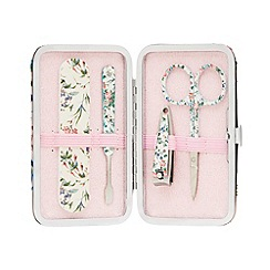 The Vintage Cosmetic Company - 'Pink Floral Satin' manicure purse