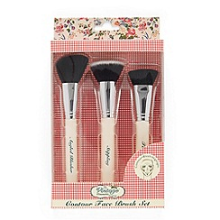 The Vintage Cosmetic Company - 'Contour Face' make-up brush set