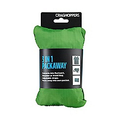 Craghoppers - Bright green 3 in 1 packaway rucksack