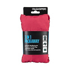 Craghoppers - Red 3 in 1 packaway rucksack