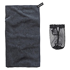 Craghoppers - Charcoal microfibre large towel