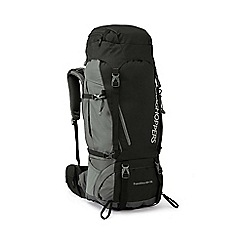 Craghoppers - Black 70l water resistant hooded rucksack