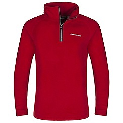 Craghoppers - Boys Red yuri half-zip fleece