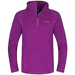 Craghoppers - Girls Bright magenta iskara half-zip fleece