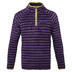 Craghoppers - Kids Dark plum combo Appleby insulating half zip fleece