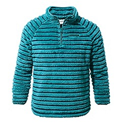 Craghoppers - Kids Bright turquoise Appleby insulating half zip fleece