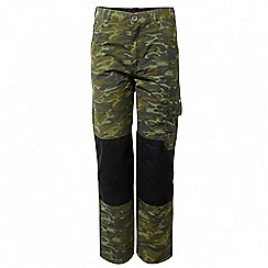 Craghoppers - Kids dark moss combo discovery adventures cargo trousers