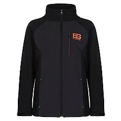 Bear Grylls - Boys Blk pepper/blk bear core softshell jacket