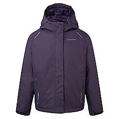 Craghoppers - Kids Dark purple Bekita thermic waterproof jacket