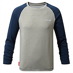 Craghoppers - Kids night blue Nosilife barnaby long sleeved t-shirt