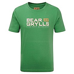 Bear Grylls - Boys Leaf green Bear grylls printed t-shirt