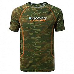 Craghoppers - Kids dark moss combo Discovery adventures short sleeved t-shirt
