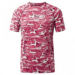 Craghoppers - Kids electric pink Discovery adventures short sleeved t-shirt