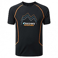 Craghoppers - Kids black Discovery adventures short sleeved t-shirt