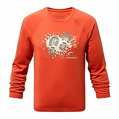 Craghoppers - Orange 'Mimir' long sleeved graphic tee