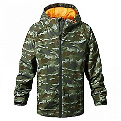 Craghoppers - Kids dark moss combo Discovery adventures waterproof jacket