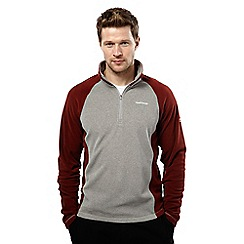 Craghoppers - Qrygry/oxblood union half zip