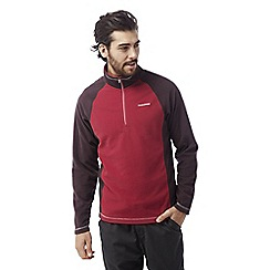 Craghoppers - Maple red/red Union half zip fleece