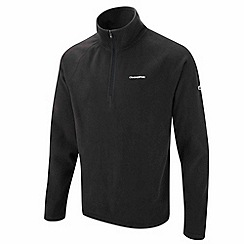 Craghoppers - Black basecamp half-zip ii fleece