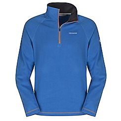 Craghoppers - Bright blue basecamp half-zip ii fleece